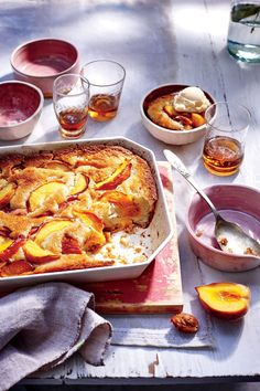 Easy Peach Cobbler - Our Best Summer Comfort Foods - Southernliving. Recipe: Easy Peach Cobbler The flavors of summer truly shine in this simple cobbler with peaches, butter, and sugar. Top with some homemade vanilla ice cream to make it even better. Southern Peach Cobbler, Summer Desserts, Just Desserts, Dessert Recipes, Fruit Dessert, Party Recipes, Beach Dessert, Cook Desserts, Cake Recipes