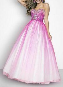 Beaded Floor-length Sweetheart Prom Ball Gowns