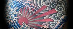 60 Japanese Wave Tattoo Designs For Men - Oceanic Ink Ideas - Tattoos Japanese Wave Tattoos, Japanese Waves, Japanese Dragon Tattoos, Japanese Art, Japanese Phoenix, Wind Tattoo, Storm Tattoo, Loon Tattoo, Wave Tattoo Design