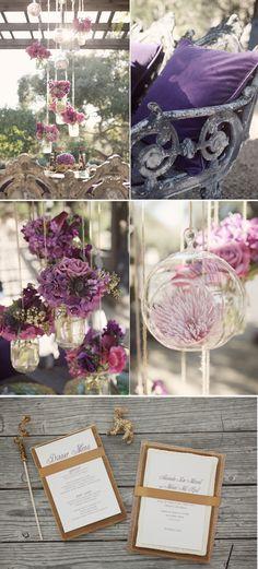 Purple and Gold Wedding shoot at Holman Ranch