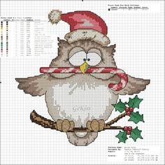 Cross-stitch Christmas Owl... murzilka1019 — «92685398_436.jpg» на Яндекс.Фотках, owl cross stitch