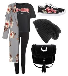 """""""Elan"""" by quintuplets-galore on Polyvore featuring Topshop, Tommy Hilfiger, The North Face and Vans"""