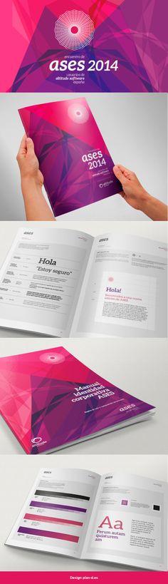 Diseño de manual de identidad corporativa para usos correctos de una marca para el evento ASES