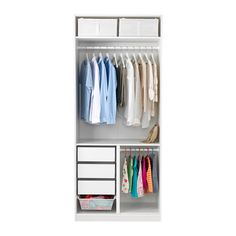 Wardobe for F's suites: railing cm,shelves for shirts above, drawers below PAX Wardrobe cm - IKEA Wardrobe organization Shop for Furniture, Lighting, Home Accessories &