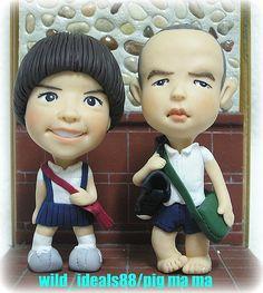 https://flic.kr/p/61FCpZ | polymer  clay  dolls | my  husband  & me....(^..^)