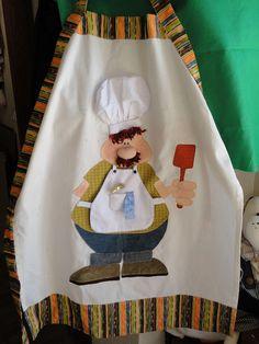 Delantal con cocinero
