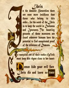 "Book of Shadows: ""Libris,"" by Charmed-BOS, at deviantART.I loved watching… Charmed Spells, Charmed Book Of Shadows, Demon Spells, Magic Spells, Charmed Tv Show, Magic Charms, Wicca Witchcraft, Magical Thinking, Halloween Books"
