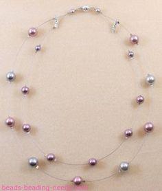 Collar de perlas flotantes
