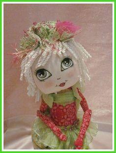 Cupcake  A Cloth Art Doll  Ready To Ship by MyGracieMaeDesigns, $60.00