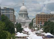 The Art Fair Off the Square on Dr. Martin Luther King Boulevard and the Monona Terrace Esplanade. Runs July and Sunday July Over 140 exhibitors and concessions with food Monona Terrace, Martin Luther King, Art Fair, Milwaukee, Wisconsin, Galleries, Taj Mahal, Sunday, Outdoor