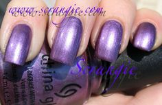 China Glaze Harmony - Romantique  Collection Purple Metallic, first metallic I ever purchased for stamping and konad great medium true purple