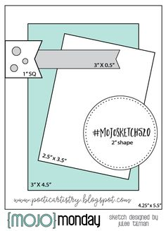Mojo Monday 520 Card Sketch by Julee Tilman. - Sketch Templates - Ideas of Sketch Templates - Mojo Monday 520 Card Sketch by Julee Tilman. Scrapbook Sketches, Card Sketches, Scrapbook Cards, Card Kit, I Card, Gremlins, Sunday Sketches, Card Making Templates, Owl Templates