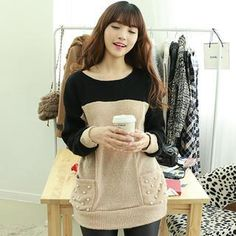 Buy 'Dodostyle – Faux-Pearl Accent Color-Block Knit Top' with Free International Shipping at YesStyle.com. Browse and shop for thousands of Asian fashion items from South Korea and more!
