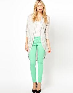 Esclusiva ASOS PETITE - Jeans skinny verde giada polvere #4