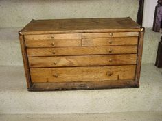 Antique oak - MACHINIST TOOL BOX - chest - 7 drawer - Ehlertbilt Gerstner Union | Collectibles, Tools, Hardware & Locks, Tools | eBay!