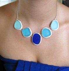beach glass necklace by West Coast Sea Glass