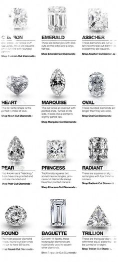 Looking for diamond jewelry? Know more about diamond cuts. The cut does not only refers to the shape but also the way the diamond reflects light. Engagement Ring Cuts, Wedding Engagement, Wedding Tips, Wedding Planning, Solitaire Engagement, Wedding Ring Guide, Trillion Engagement Ring, Trendy Wedding, Gold Wedding