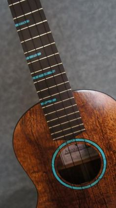 Turquoise Fret Markers and Rosette
