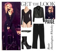 """""""Rosie Huntington-Whiteley Paige Denim Fall 2016 AD Campaign"""" by valenlss ❤ liked on Polyvore featuring Paige Denim, CO and Yves Saint Laurent"""