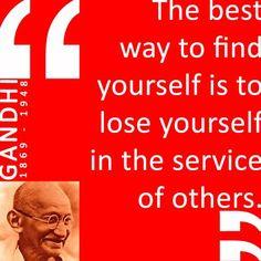 Mahatma Gandhi (1869 love positive words