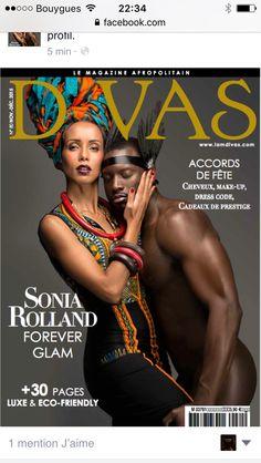 Sonia Rolland photographiee par Mario Epanya pour Divas magazine novembre/decembre 2015