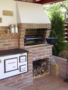 Kemax - Garden kitchen in Veszprém- Kemax – Veszprémi kerti konyha Kemax – Garden kitchen in Veszprém - Outdoor Kitchen Plans, Outdoor Oven, Outdoor Kitchen Design, Outdoor Cooking, Kitchen Grill, Backyard Kitchen, Summer Kitchen, Kitchen Gardening, Patio Deck Designs