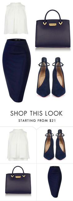 Buisness by maniquen on Polyvore featuring Christian Louboutin and ZAC Zac Posen