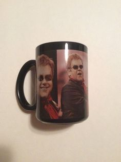 Elton John The Red Piano Coffee Cup Mug Black Collectible Music  | eBay