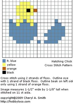 Bird chicken cross stitch.
