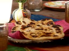Naan: Indian Oven-Baked Flat Bread Good recipe, but use more flour