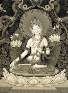 White Tara is the deity of long life. Her love heals at the source of disease, bringing health, strength, longevity and beauty.