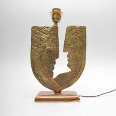 French Bronze Lamp, Jean Cocteau