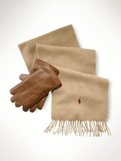 Indulge in the classics this holiday season, with a cashmere scarf set from Polo Ralph Lauren