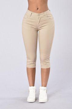 Capri Uniform Pants - Khaki