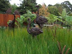 Driftwood moa's by Jack Marsden Mayer 2013 Ellerslie Flower Show