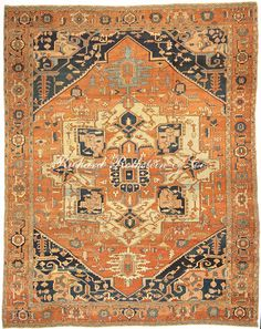 Antique Serapi Carpet Antrr855