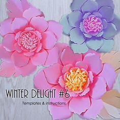 Paper Flower Template PDF Paper Flower DIY Paper Flower