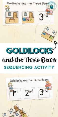 Goldilocks and Three Bears Story Sequencing Story Sequencing, Sequencing Activities, Letter Activities, Bears Preschool, Preschool Themes, Preschool Activities, Homeschool Preschool Curriculum, Preschool Schedule, Homeschooling