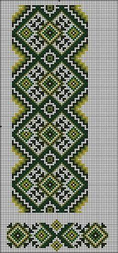 Loom Beading, Beading Patterns, Embroidery Patterns, Crochet Patterns, Cross Designs, Cross Stitch Designs, Cross Stitch Patterns, Palestinian Embroidery, Embroidered Towels