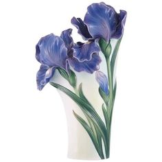 Franz Collection Iris Vase featuring polyvore, home, home decor, vases, ceramic vessels, alabaster vase, colored vases, ceramic vase and franz collection