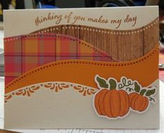Hand Stamped Cards, Card Making Techniques, Stamping Up Cards, Thanksgiving Cards, Fall Cards, Card Sketches, Halloween Cards, Paper Cards, Creative Cards