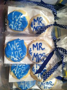 We Are... Mr. And Mrs. Cookies!! #wedding #PSU #Penn state Marrying within the penn state family for sure, just so I can have these there