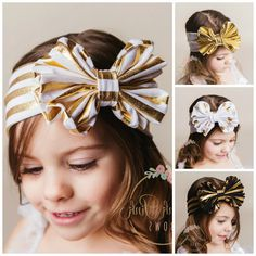 CLEARANCE Set Baby HeadbandsCHOOSE COLOR Girls Head