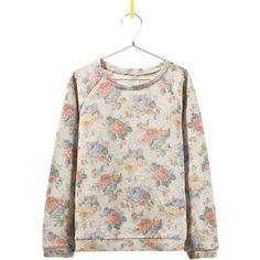 Zara Floral Sweatshirt ($20) via Polyvore