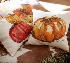 Market Pumpkins Pillow Cover