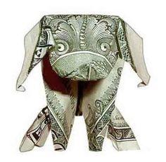 Money origami Dog | ogtmoreno.com