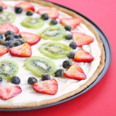 Fruit Pizza - filling is cream cheese with marshmallow fluff folded in