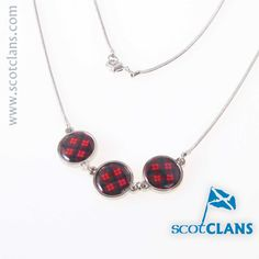 MacNaughton Tartan Triple Pendant. Free worldwide shipping available.