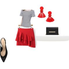 сет по эскизу 2 by lidia-gorbunova on Polyvore featuring мода