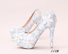 Cheap pearl wedding shoe, Buy Quality wedding shoes lace directly from China wedding shoes Suppliers: 2016 Sky Blue Pearl Wedding Shoes Lace Flowers Hand Sewing White Diamond Ultra-high with Dress Shoes Waterproof Bride Shoes Pump Sparkly Wedding Shoes, Bridal Wedding Shoes, Wedding Boots, Wedding Blue, Dress Wedding, Trendy Wedding, Floral Wedding, Prom Heels, Bride Shoes